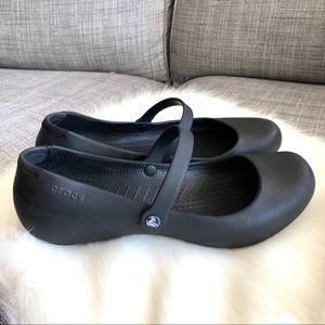 CROCS Alice Black Mary Jane Flats Size 10